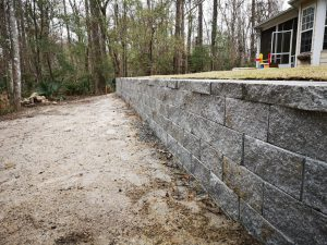 Retaining Wall Installed